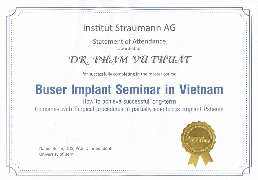 Buser implant seminar in VietNam